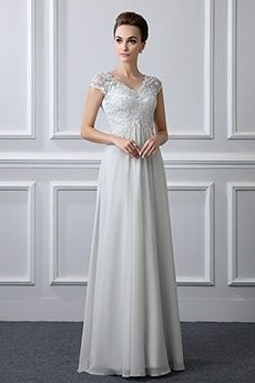 A-Line Princess V-neck Floor-length Chiffon Lace Mother of the. Wedding  Dresses ... c13abced43ff