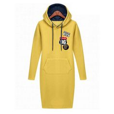 Yellow Longline Letter Print Fleeced Hoodie 15HD00009-3 ($18) ❤ liked on Polyvore featuring tops, hoodies, white, sweatshirts hoodies, fleece hoodie, hooded sweatshirt, sweat shirts and fleece sweatshirt