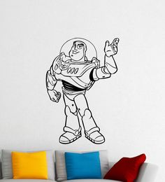 Buzz Lightyear Toy Story Wall Vinyl Sticker by HannahLarsenDesigns