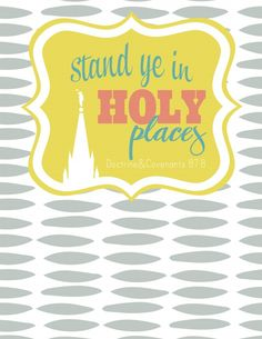 YW Cover by www.lollyjane.com - stand ye in holy places - 2013 yw theme