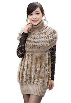 Bafei Women's Rabbit Fur Knitted Dress High-necking Winter Dress (M, Grass yellow) Bafei http://www.amazon.com/dp/B00KXJ55TY/ref=cm_sw_r_pi_dp_b2Dpub19KTMMX