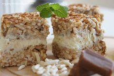 moje pasje: Biała dama - ciasto z ryżu prażonego, krówek i białej czekolady