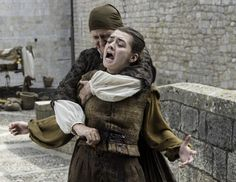 Arya and attacker (the Waif), Game of Thrones Season 6 Episode 7