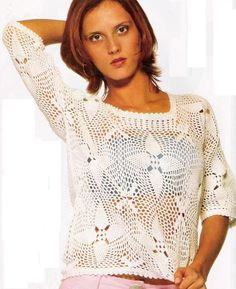 Crochet gold: white t-shirt. Diagrams at site