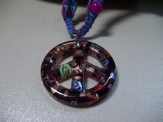 Peaceful Bliss, Blue and Purple Hemp Macrame Necklace and Bracelet set--MS4