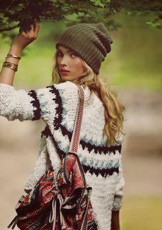 .bohemian winter style