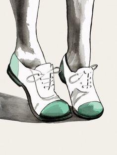 Fashion Illustration by Helen Simms Brogue Lovin!