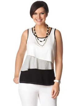 Colorblock Tiered Tank - Christopher & Banks