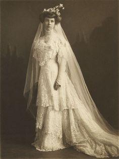 Elsie Stevens in Wedding Gown, 1908