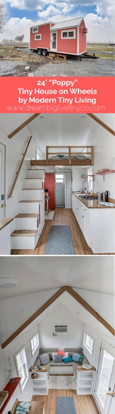 "24' ""Poppy"" Tiny House on Wheels by Modern Tiny Living"