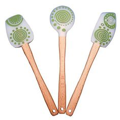 Chef Quality 3 Piece Silicone Spatula Set, Colorful Flexible Wooden Handled Spatulas for Baking-cooking-mixing - Relaxbuddy Online Shopping Hard Sauce, Cooking Temperatures, Kitchen Must Haves, Cooking Utensils, Kitchen Utensils, Kitchen Gadgets, Kitchen Stuff, Chocolate Chip Cookies, Color Splash