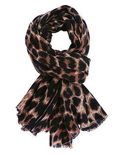 Designer Inspired grande écharpe impression léopard Noir /& Beige Tons Rouge frontière verte