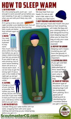 Staying warm in a sleeping bag