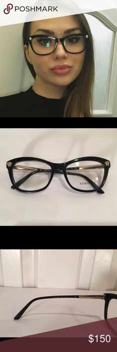 f81b3bb1e2b3 Authentic Versace sunglasses Authentic Versace clear glasses. Lenses could  be replaced w prescription or sunglasses