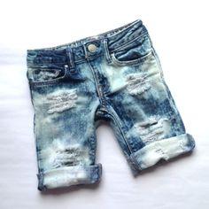 d7d61bd0ec Bruisersnbeauties Kruzers Custom Distressed Denim Cutoff Shorts  @bruisersnbeauties_closet Boys Short Outfits, Cute Boy Outfits