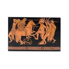 Hand made painting in wood with red figure theme Greek History, How To Make Paint, Acrylic Colors, Under Construction, Museum, Paintings, Wallpaper, Wood, Handmade