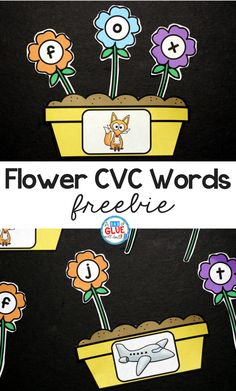 Spring is in the air and what better way to get your students in the mood than with this adorable Flowers CVC Word Building Freebie. This printable is the perfect addition to your literacy centers this spring. Your students will LOVE building cvc words - promise! Kindergarten Centers, Teaching Kindergarten, Literacy Centers, Literacy Skills, Early Literacy, Kindergarten Language Arts, Literacy Stations, Reading Centers, Elementary Teaching