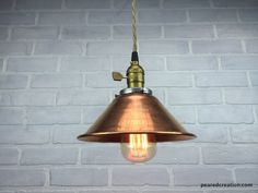 Copper Pendant Lamp - Industrial Lighting - Hanging Lamp - Edison Pendant Light by newwineoldbottles on Etsy https://www.etsy.com/listing/240631204/copper-pendant-lamp-industrial-lighting