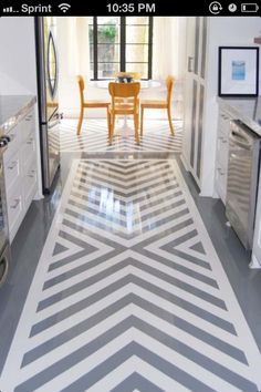 Galley paint kitchen floor