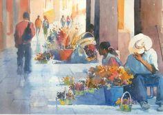 Mel Stabin watercolor painting