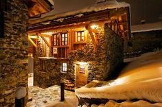 Chalet Merlo: in Val d'Isère legno, luce e lussuoso calore domestico #pinterest #sci #snow
