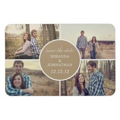 save the date magnet #wedding #bridal