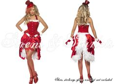 LADIES NEW SEXY SANTA CHRISTMAS MINI CORSET FANCY DRESS OUTFIT COSTUME | eBay - Celia