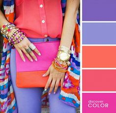 Ideas For Cute Camping Outfits Color Combos Color Combinations For Clothes, Color Combos, Color Schemes, Fashion Colours, Colorful Fashion, Lila Outfits, Purple Outfits, Cute Camping Outfits, Color Pairing