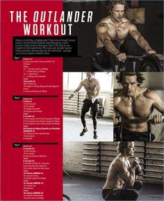 Men's Health South Africa shares Sam Heughan's workout for Outlander.