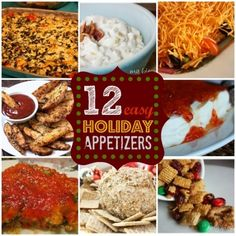 Easy appetizers for a #holiday party. Great ideas for upcoming get-togethers!   http://myblessedlife.net/2010/11/10-easy-holiday-appetizers.html#I-%2F3810595360%2F1