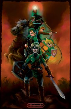 Legend of Zelda Timeline by ~J2Dstar First Video Game, Video Games, Legend Of Zelda Timeline, Nintendo, Link Zelda, Wind Waker, Twilight Princess, Illustration, Hero