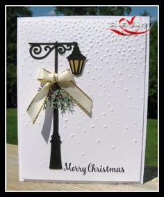 Created by Tracie St-Louis Christmas Lamppost Thinlints - Stampin' Up!