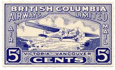England Postage Stamps | british columbia airways limited stamp british columbia 1928