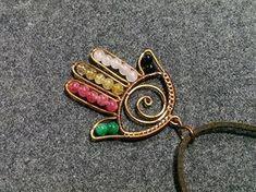 Hamsa hand pendant - How to make wire jewelery 159 - YouTube