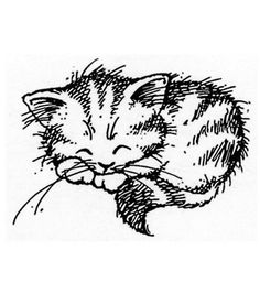 Stampendous Rubber Stamp-Sleeping KittyStampendous Rubber Stamp-Sleeping Kitty,