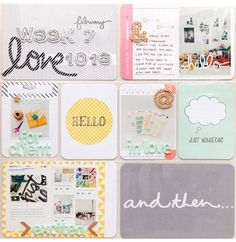 Project Life Week 7 by Evelypy Project Life Scrapbook, Project Life Album, Project Life Layouts, Project Life Cards, Project 365, Pocket Scrapbooking, Scrapbooking Layouts, Scrapbook Pages, Scrapbook Designs