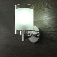 Modern Silver Chrome Single Head Indoor Wall Light Fittings for Bedroom Porch Hall