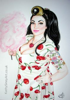 Portrait of Betty Pamper for my 'Rock your Curves' series