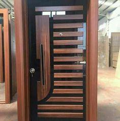 Wooden Front Door Design, Door Gate Design, Room Door Design, Door Design Interior, Wooden Front Doors, Front Door Entrance, The Doors, Modern Entrance Door, Modern Interior Doors