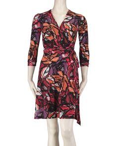 Floral Print Faux Wrap Dress, Main View