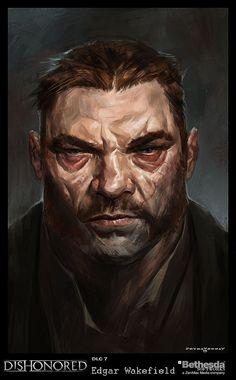 Dishonored-EdgarWakefield, Cedric  Peyravernay on ArtStation at https://www.artstation.com/artwork/dishonored-edgarwakefield