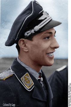 My all time favorite Ace Erich Rudorffer This remarkable pilot flew over 1000 combat missions, engaged in aerial combat over 300 times. He was shot down 16 times and had to parachute from his aircraft 9 times. His score sheet of 222 victories 1 Hawker Tempest (Me 262), 2 Hawk 75, 6 P-40, 7 Hurricane, 7 P-38, 15 Yak 7/9, 40 Spitfire, 58 Il-2 Sturm,10 B-17 Bombers (Me 262).No other pilot in history has scored more multiple victories than him.http://en.wikipedia.org/wiki/Erich_Rudorffer