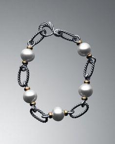 David Yurman Pearl Figaro Link Bracelet