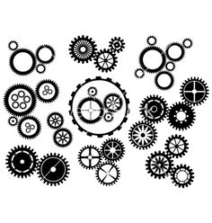 Bike gears clipart vector vector bicycle gear pictures to pin on - Clipart Black And White Gear Cog Wheels Royalty Free