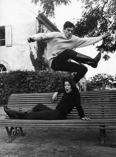 Romy Schneider & Alain Delon--How cool would this be for an engagement photo??