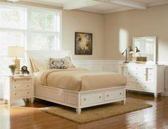 Mobília de quarto madeira branca