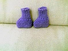Knitting Patterns Galore - Easy Knitted Booties