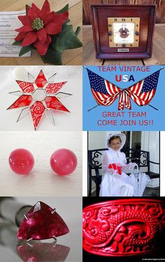 Christmas Red with Teamvintageusa by denise on Etsy--Pinned with TreasuryPin.com