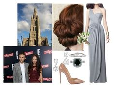 """""""Attending the Wedding of her cousin, Lady Eleanor Henstridge and Sir Thomas Underwood"""" by amelia-of-scotland ❤ liked on Polyvore featuring Collette Z, Mark Broumand, BERRICLE and Christian Louboutin"""