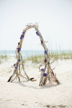 Driftwood Arch -- maybe we can enlist the guys to do this? Then we could just take it apart and leave it on the beach....